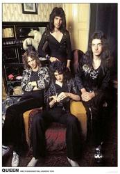 "Queen poster: West Kensington, London 1974 (23.5"" x 33"") U.K. Import"