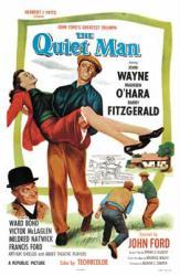 The Quiet Man movie poster [John Wayne & Maureen O'Hara] 27'' X 41''