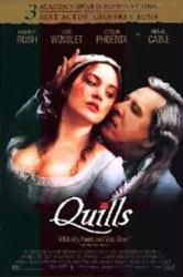 Quills movie poster [Geoffrey Rush & Kate Winslet] video version/NM