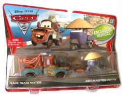Cars 2: Race Team Mater & Zen Master Pitty 1:55 diecast vehicles