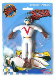 Speed Racer: Racer X bendable/poseable figure (NJ Croce/2008) New