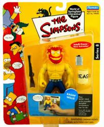 The Simpsons Series 8: Ragin' Willie action figure (Playmates/2002)