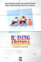 Raising Arizona movie poster [Nicolas Cage, Holly Hunter] 26x38