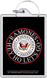 "The Ramones keychain: Hey Ho Let's Go (1 1/2"" X 2 1/4"")"