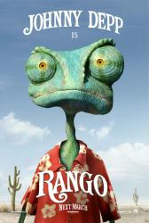 Rango movie poster [2011 Nickelodeon animated film] 27 X 40 advance