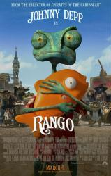Rango movie poster [2011] Nickelodeon animated film (original 27 X 40)