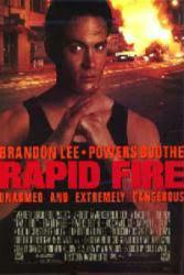 Rapid Fire movie poster [Brandon Lee] 26x40 video poster