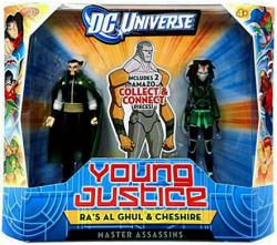DC Universe Young Justice: Ra's Al Ghul & Cheshire figures (Mattel)