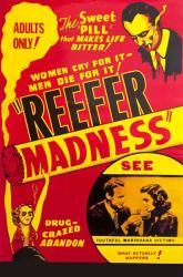 Reefer Madness movie poster (1936) 24x36 marijuana propaganda film