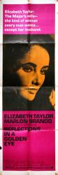 Reflections in a Golden Eye movie poster [Elizabeth Taylor] 20x60