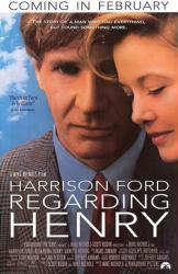 Regarding Henry movie poster [Harrison Ford, Annette Bening] 27x41