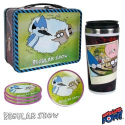 Regular Show collectible Lunch Box Tin Tote Gift Set (Bif Bang Pow!)
