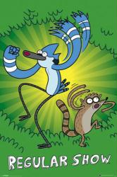 Regular Show poster: Mordecai & Rigby (24'' X 36'') Cartoon Network