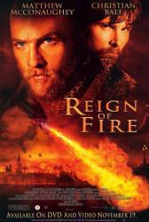 Reign of Fire movie poster [Matthew McConaughey, Christian Bale] 27x40