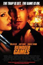 Reindeer Games movie poster [Ben Affleck, Charlize Theron] 27x40