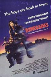 Renegades movie poster [Kiefer Sutherland, Lou Diamond Phillips] 27x40