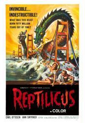 Reptilicus movie poster (1961) 18x24