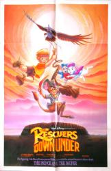 The Rescuers Down Under movie poster (Walt Disney/1990) original 27x41