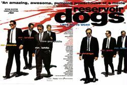 Reservoir Dogs movie poster [Quentin Tarantino] 36x24 U.K. Quad Style