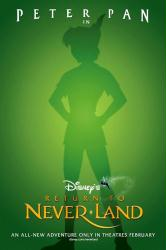 Return to Never Land movie poster (Disney's Peter Pan sequel) 27 X 40