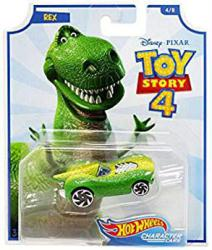 Hot Wheels Character Cars: Toy Story 4 Rex die-cast