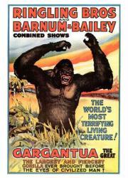Ringling Bros and Barnum & Bailey circus poster (18 X 24) Gargantua