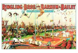 Ringling Bros and Barnum & Bailey circus poster (24x18) Greatest Acts
