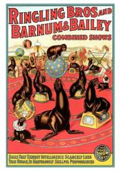 Ringling Bros and Barnum & Bailey circus poster (18 X 24) Seals