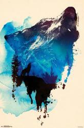 Robert Farkas poster: Wolf Paint (22x34) art