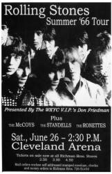 Rolling Stones poster: 11x17 Summer '66 Tour repro concert poster