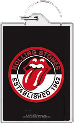 "Rolling Stones keychain: Tongue logo (1 1/2"" X 2 1/4"")"