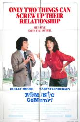 Romantic Comedy movie poster [Dudley Moore, Mary Steenburgen] 27x41