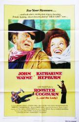 Rooster Cogburn movie poster [John Wayne, Katharine Hepburn] 27x41