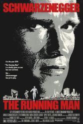 The Running Man movie poster [Arnold Schwarzenegger] original 27 X 41