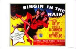 Singin' In the Rain movie poster [Gene Kelly, O'Connor, Reynolds]