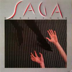 Saga poster: Behaviour vintage LP/Album flat (1985)