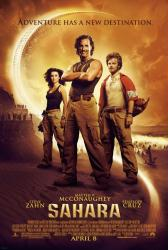 Sahara movie poster [Matthew McConaughey/Penelope Cruz/Steve Zahn] NM