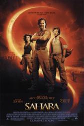 Sahara movie poster [Matthew McConaughey, Penelope Cruz & Steve Zahn]
