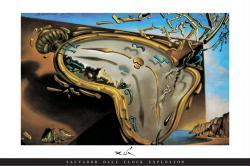 Salvador Dali poster: Les Montres Molles (Clock Explosion) 36'' X 24''