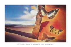 Salvador Dali poster: Paysage aux Papillons (36'' X 24'') New