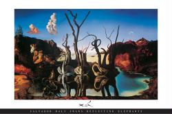 Salvador Dali poster: Swans Reflecting Elephants (36'' X 24'') New