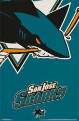 San Jose Sharks poster: Logo (NHL) 22x34