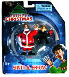 Arthur Christmas: Santa & Bryony figure 2-pack (Bridge Direct/2011)