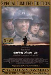 Saving Private Ryan movie poster [Tom Hanks] a Steven Spielberg film
