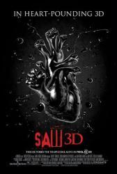 Saw 3D movie poster (2010) original one-sheet