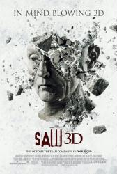 Saw 3D movie poster [Tobin Bell as Jigsaw] 2010 one-sheet