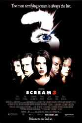 Scream 3 movie poster [Neve Campbell, David Arquette] 27x40