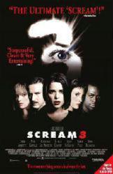 Scream 3 movie poster [Neve Campbell, David Arquette] 26x40 video