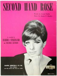 Second Hand Rose vintage sheet music [Barbra Streisand] 1965