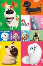 The Secret Life of Pets 2 movie poster: Character Grid (22x34)